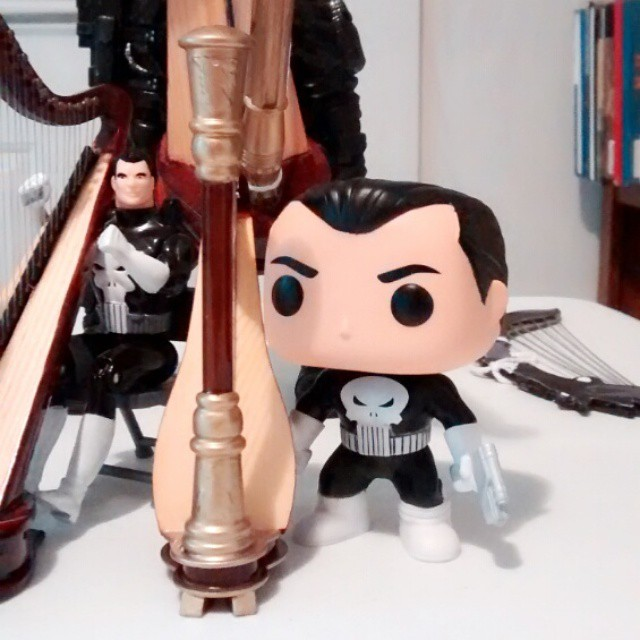 Funko Bobble Head Punisher wants to play the harp
