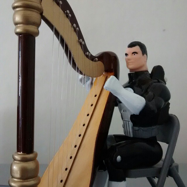 Toybiz Punisher harping it out.