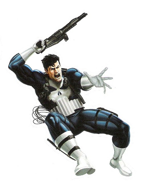 Punisher from Marvel Heroes sticker books 2.
