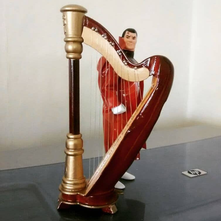 Right Behind The Harp.