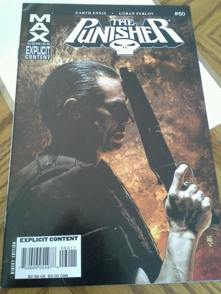 The Punisher Max comic.