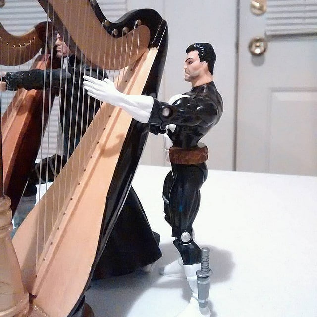 Practice muffling the harp strings.
