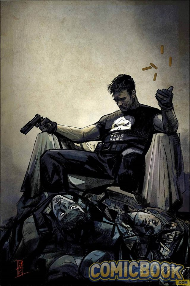 New Punisher art by Alex Maleev.