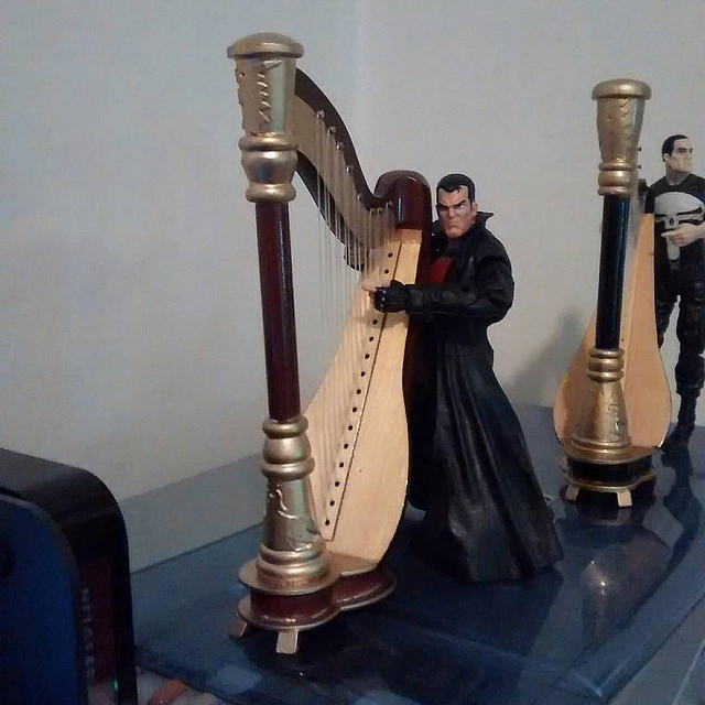 Here's the Thunderbolts Punisher performing harp songs.