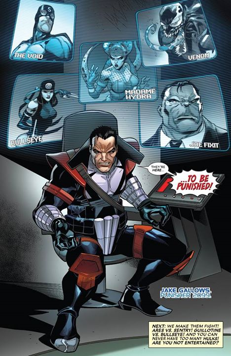 Punisher 2099 appearing in The Contest of Champions.