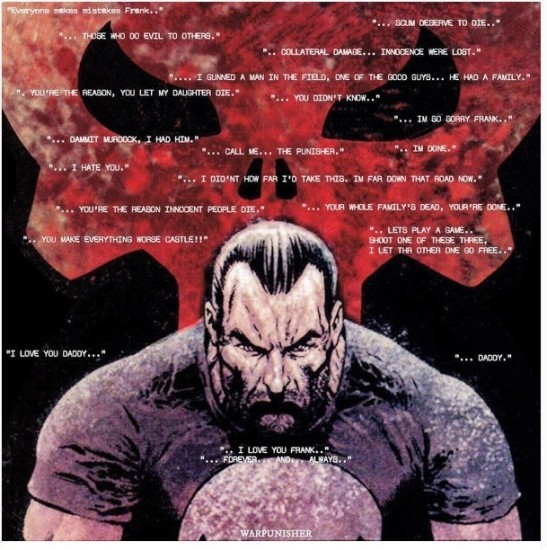 Various quotes from The Punisher Marvel Knights run.