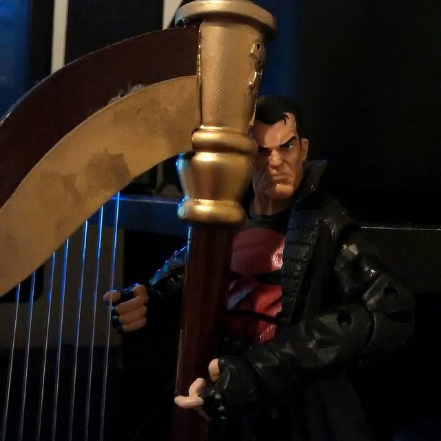 A Good Pose made by The Punisher and his harp.