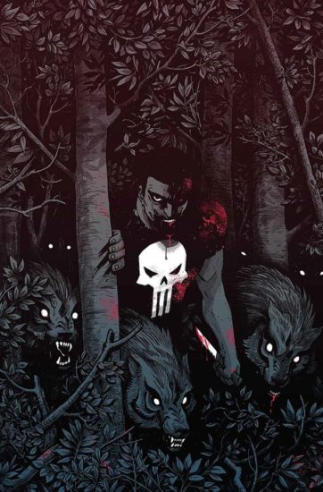 Cover variant to Punisher #3 by Becky Cloonan.
