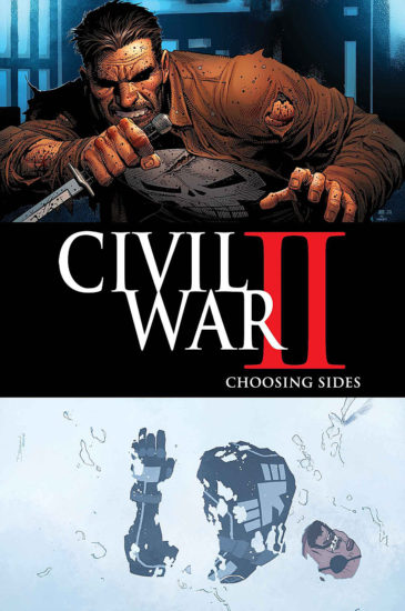 Civil War II with Frank on the cover.