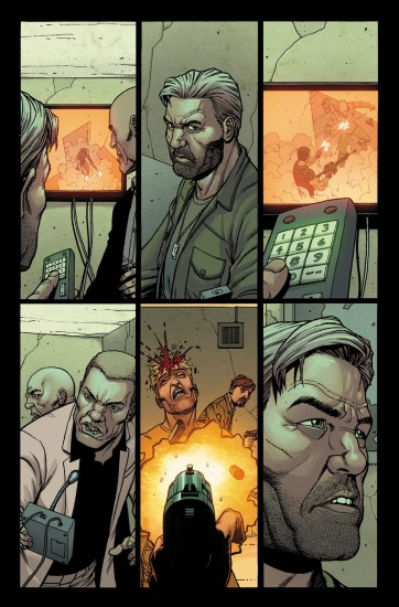 Punisher Comic Preview 4. Art by Steve Dillon.