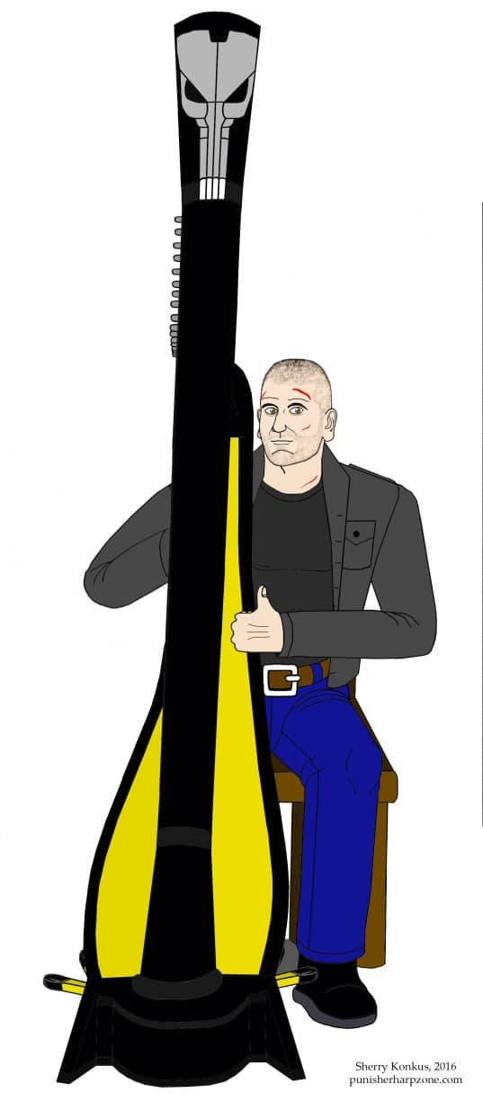 Jon Bernthal Punisher Harp Art Modified