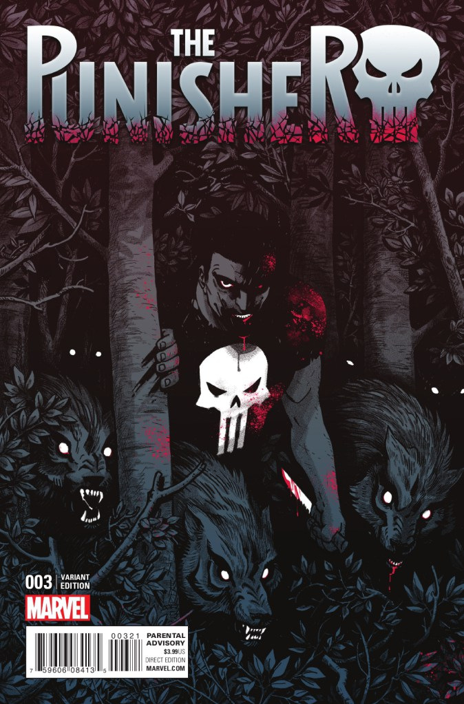 Cover Variant of Punisher #3 by Becky Cloonan