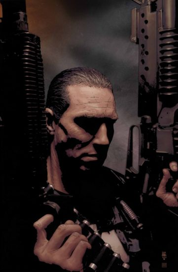 Cover to Punisher MAX #21 by Tim Bradstreet