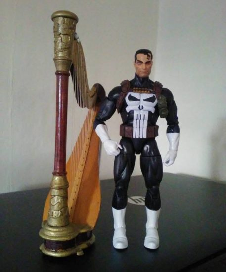 Jim Lee's Punisher posing with his harp.