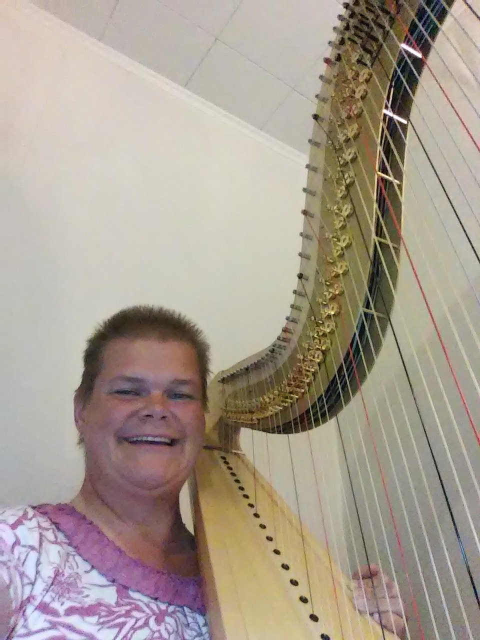 Me and Grover, my Camac Athena harp.