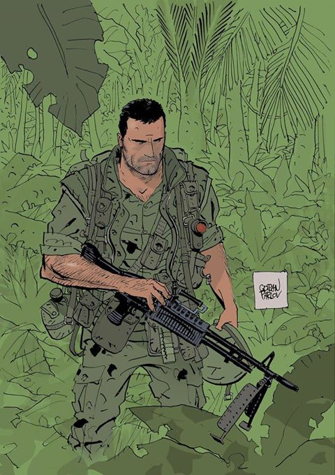 Goran Parlov's latest Frank Castle art.