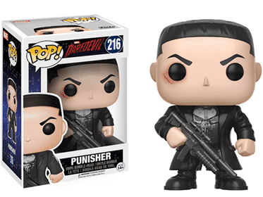 Jon Bernthal's Punisher from Funko Pop toys.