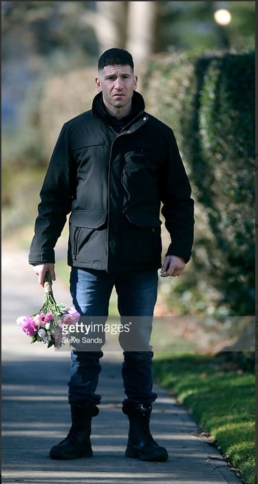 Jon Bernthal as The Punisher by GettyImages. Look he's holding a bouquet of flowers in this wonderful photo 3.