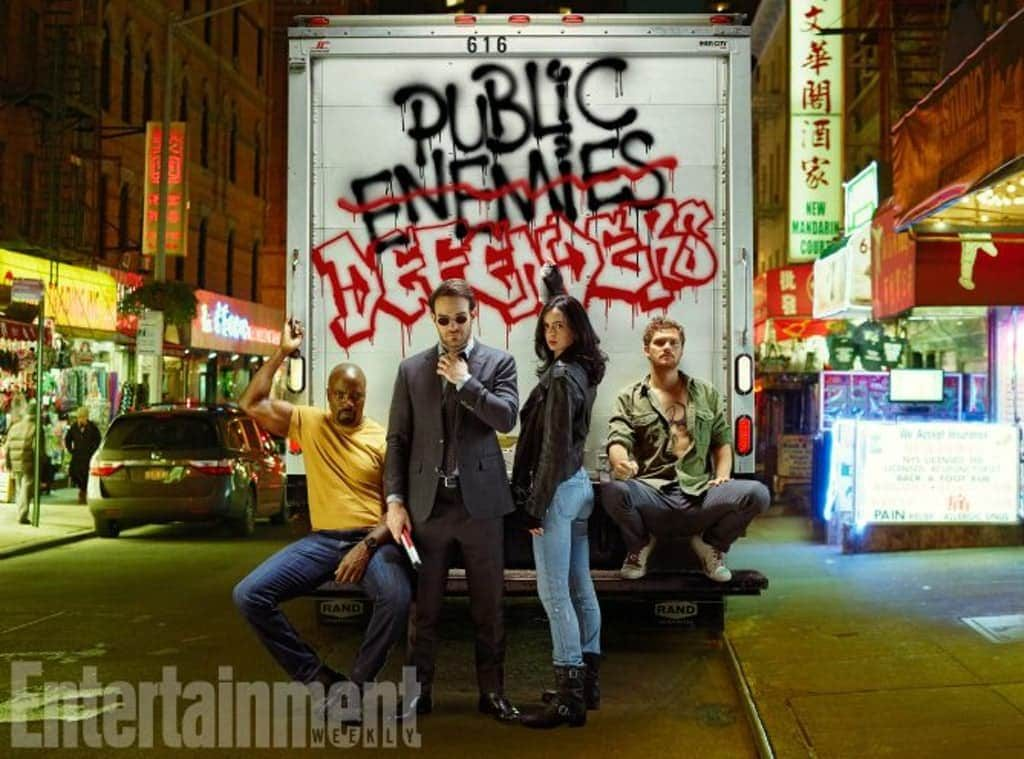 The Defenders! Photo by Entertainment Weekly.