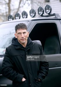 On the set of The Punisher.