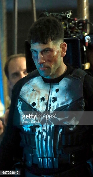 Jon Bernthal shown in Punisher skull armor 5.