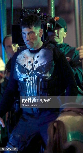 Jon Bernthal shown in Punisher skull armor 3