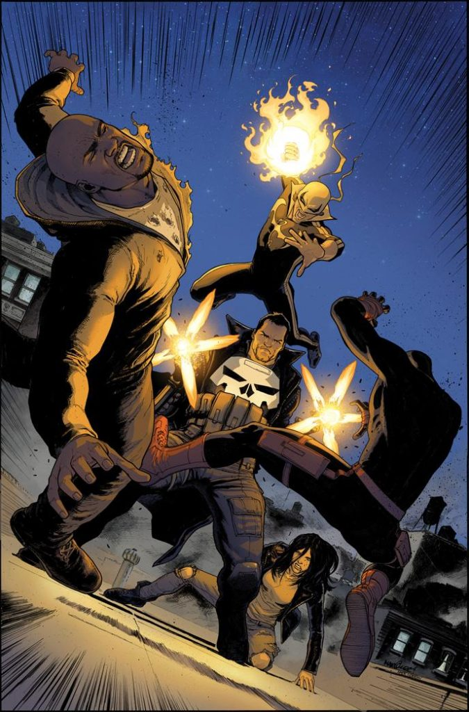 Cover to Defenders #3 by David Marquez