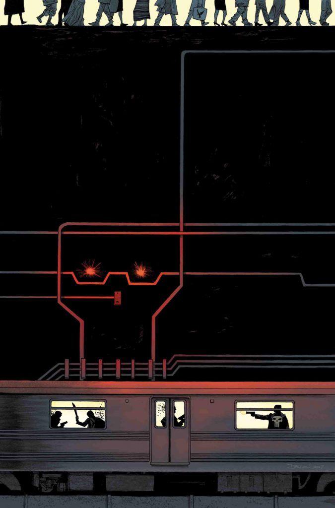 Cover to Punisher #15 by Declan Shalvey