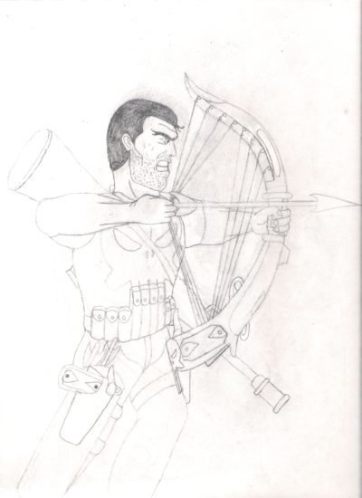 More Punisher Harp sketches