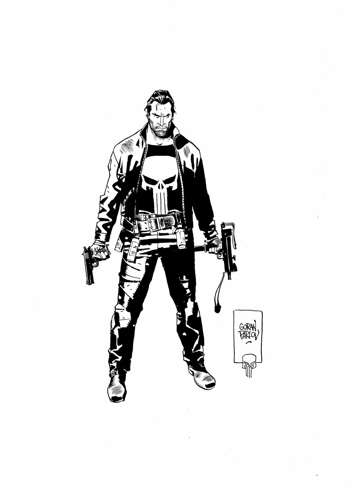 Punisher art by Goran Parlov
