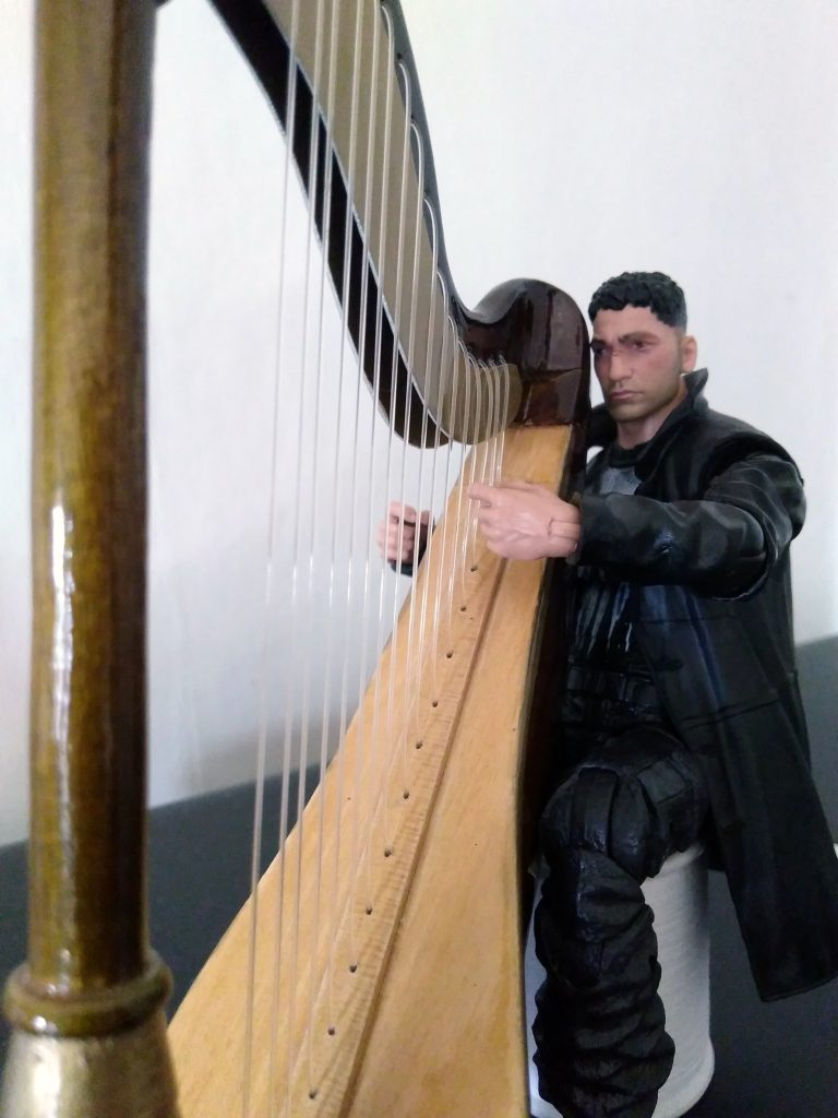 Jon Bernthal's Punisher performing harp music for the first time.