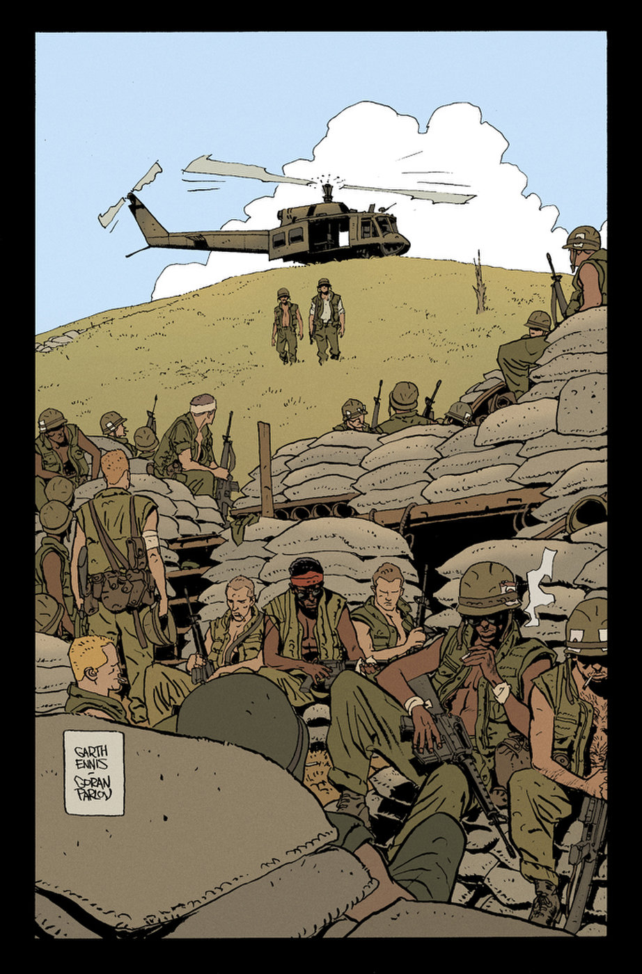 The Platoon Sample (colored version) by Goran Parlov
