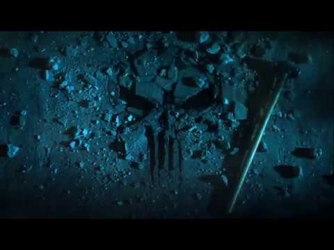 Punisher skull emblem Frank used a sledgehammer to create.
