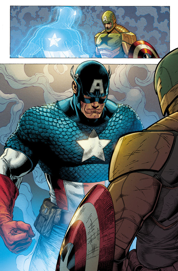 The real Cap appears to take back his country.
