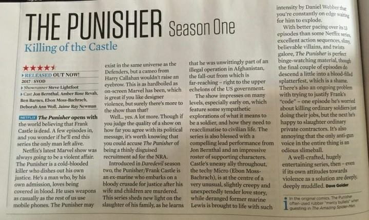 First Punisher review scanned from SFX Magazine.