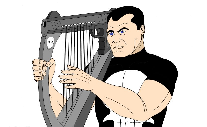 NEW PUNISHER HARP ART: The Song of Death