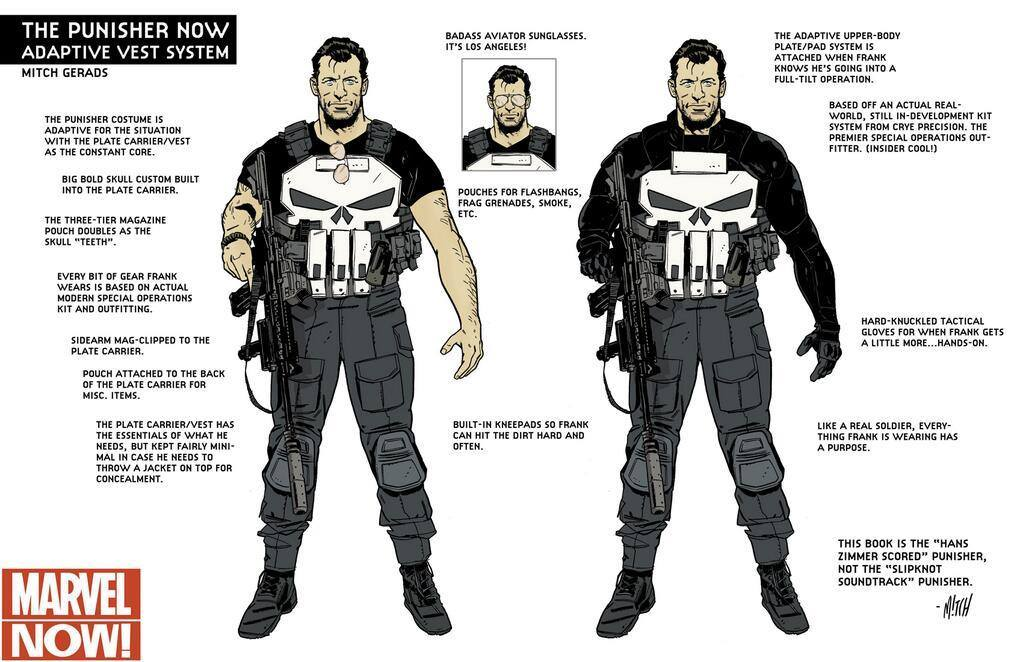 Mitch Gerad's concept of Frank's military outfit.