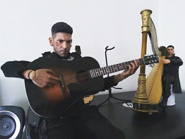 The two Jon Bernthal Punishers playing on the harp and guitar.